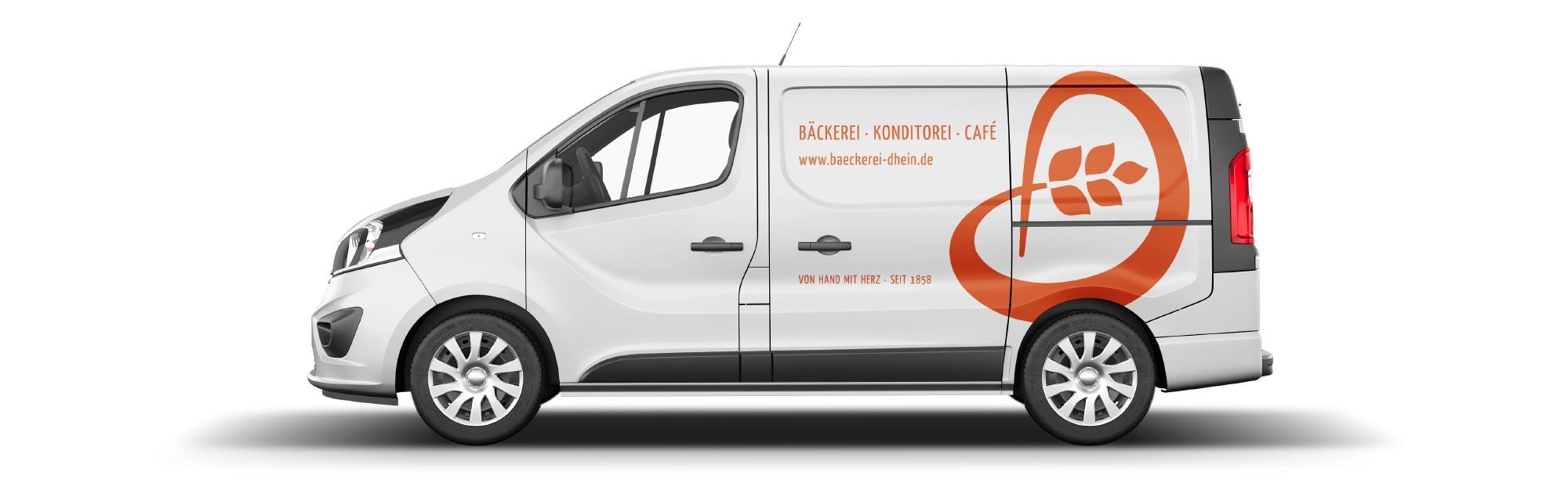 Branding - Fahrzeugbeschriftung Bäckerei Dhein by Designfieber