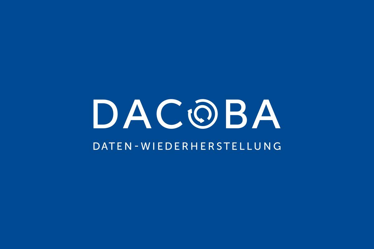 Dacoba Wortbildmarke, Logo by Designfieber