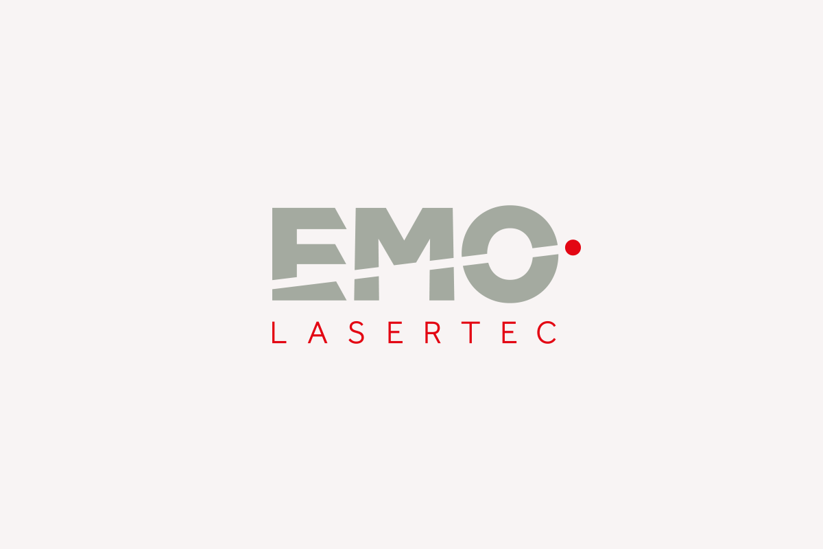 EMO Lasertec Wortbildmarke, Logo by Designfieber