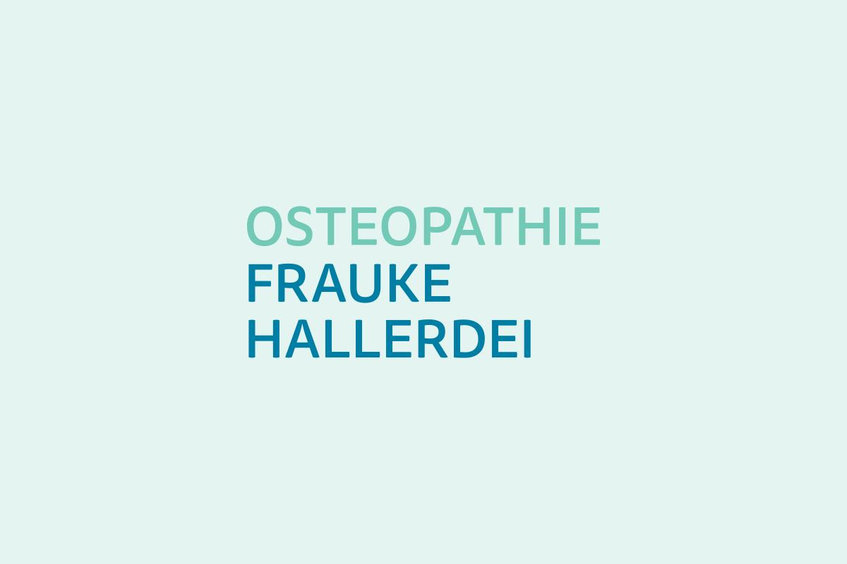 Wortmarke für Osteopathie Frauke Hallerdei by Designfieber