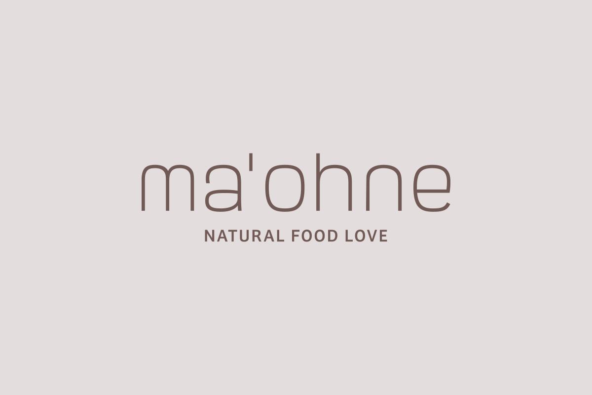 Wortmarke für ma'ohne Natural Food Love by Designfieber