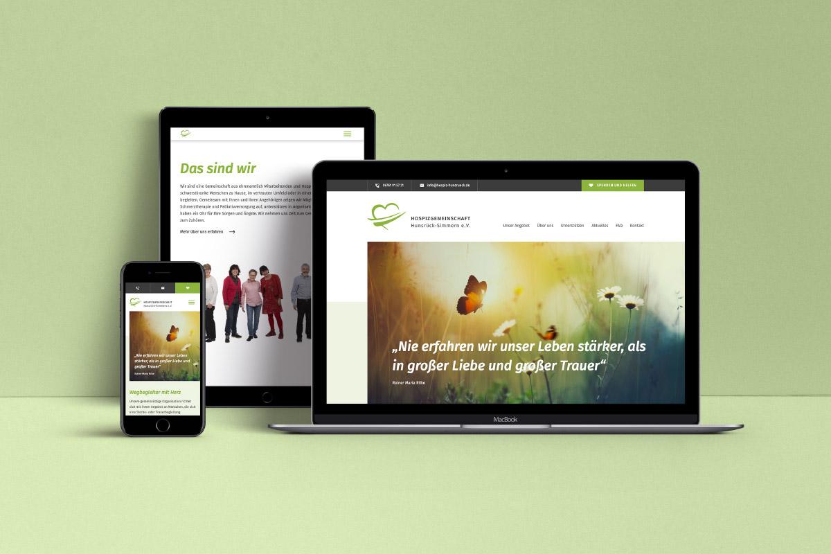Website Hospizgemeinschaft Hunsrück-Simmern