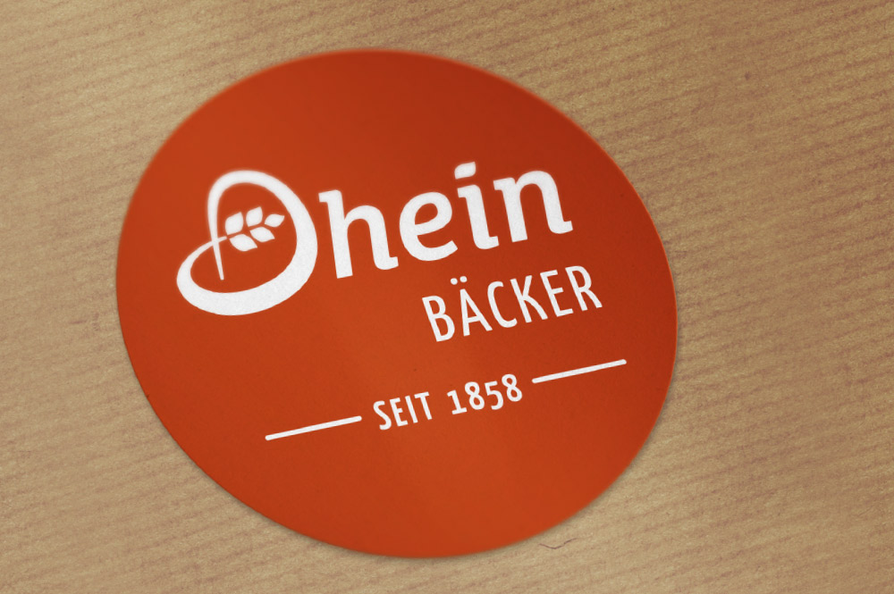 Branding – Aufkleber Bäckerei Dhein