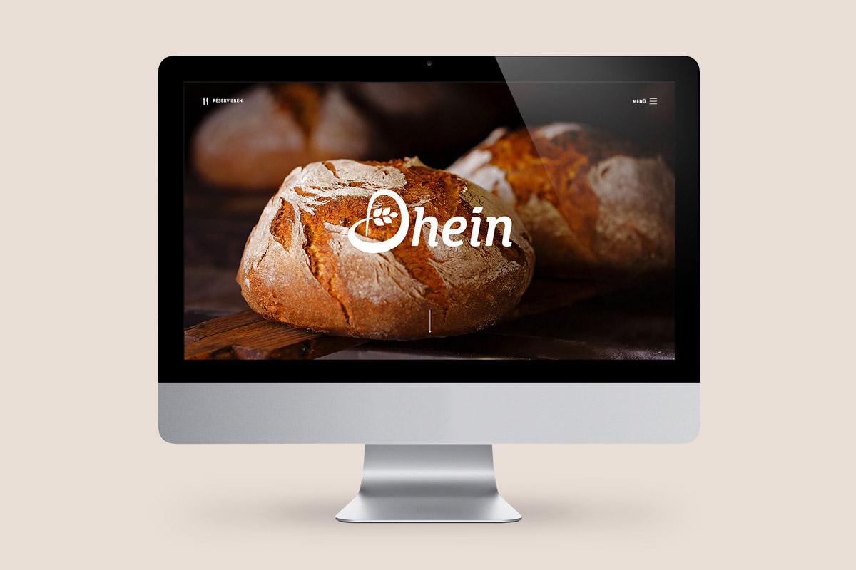 Website Bäckerei Dhein
