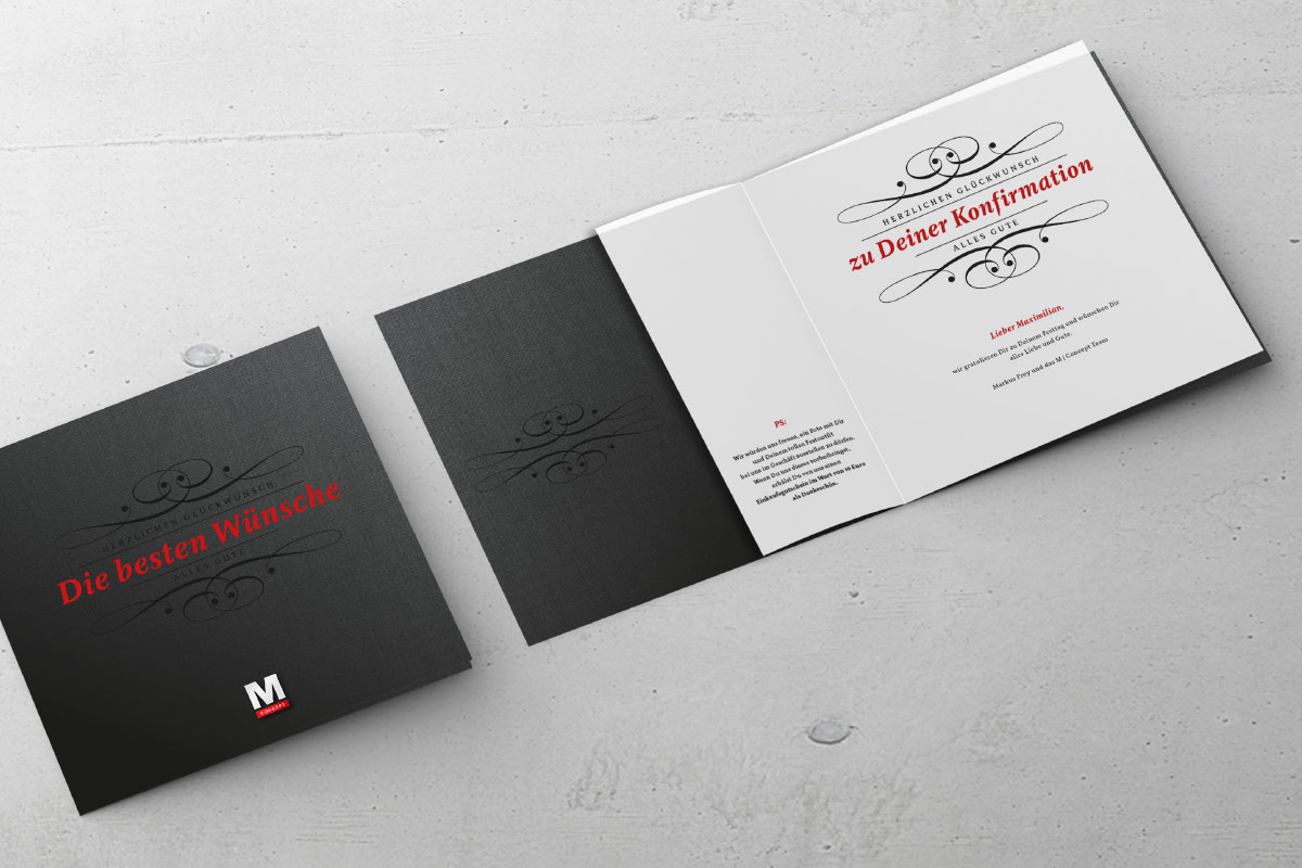 Glückwunschkarte M Concept