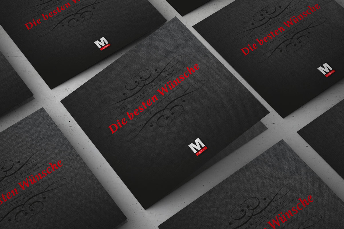 Cover Glückwunschkarte M Concept