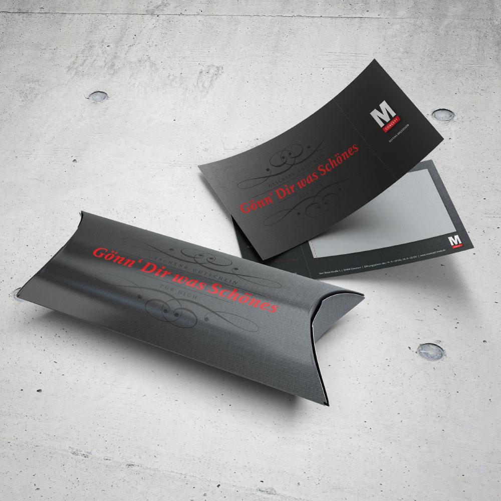 Gutschein mit Geschenkverpackung M Concept