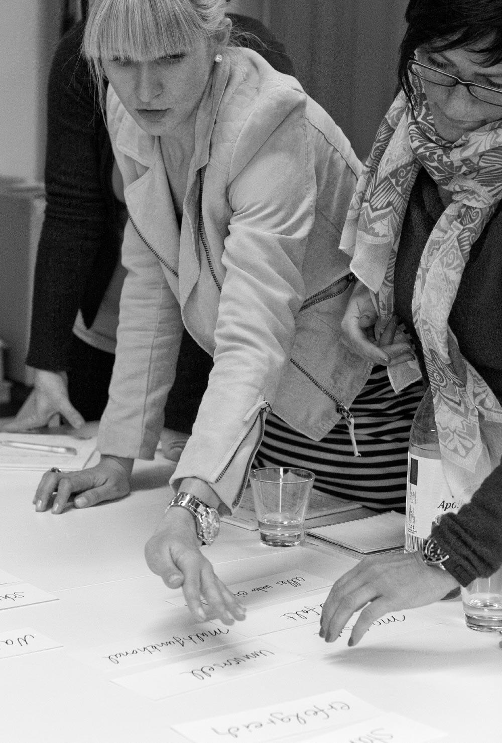 Team M Concept beim Markenworkshop
