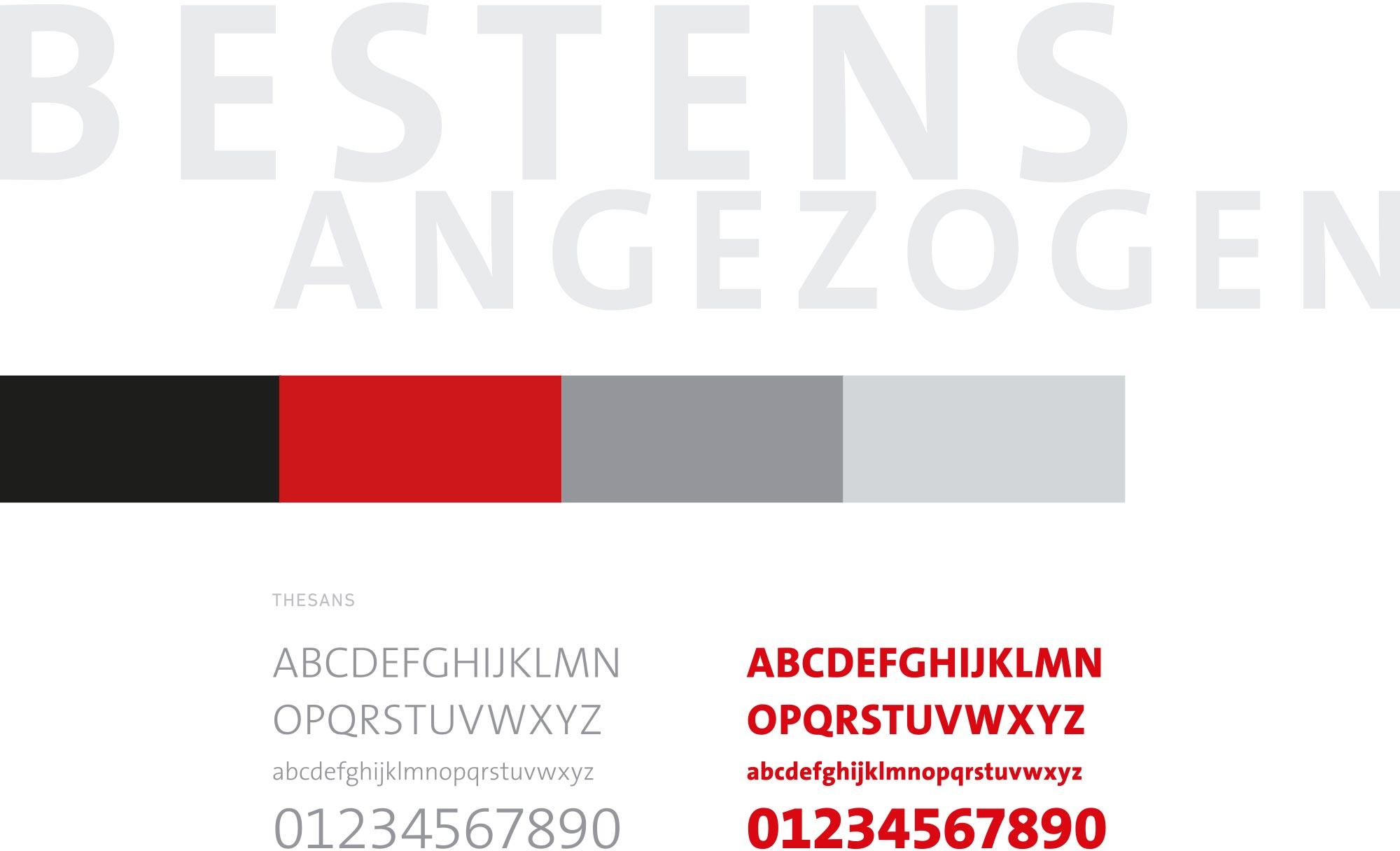 Typografie- und Farbkonzept M Concept