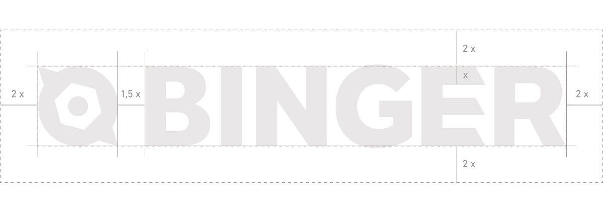 Zeichnung Logoaufbau Ero Binger
