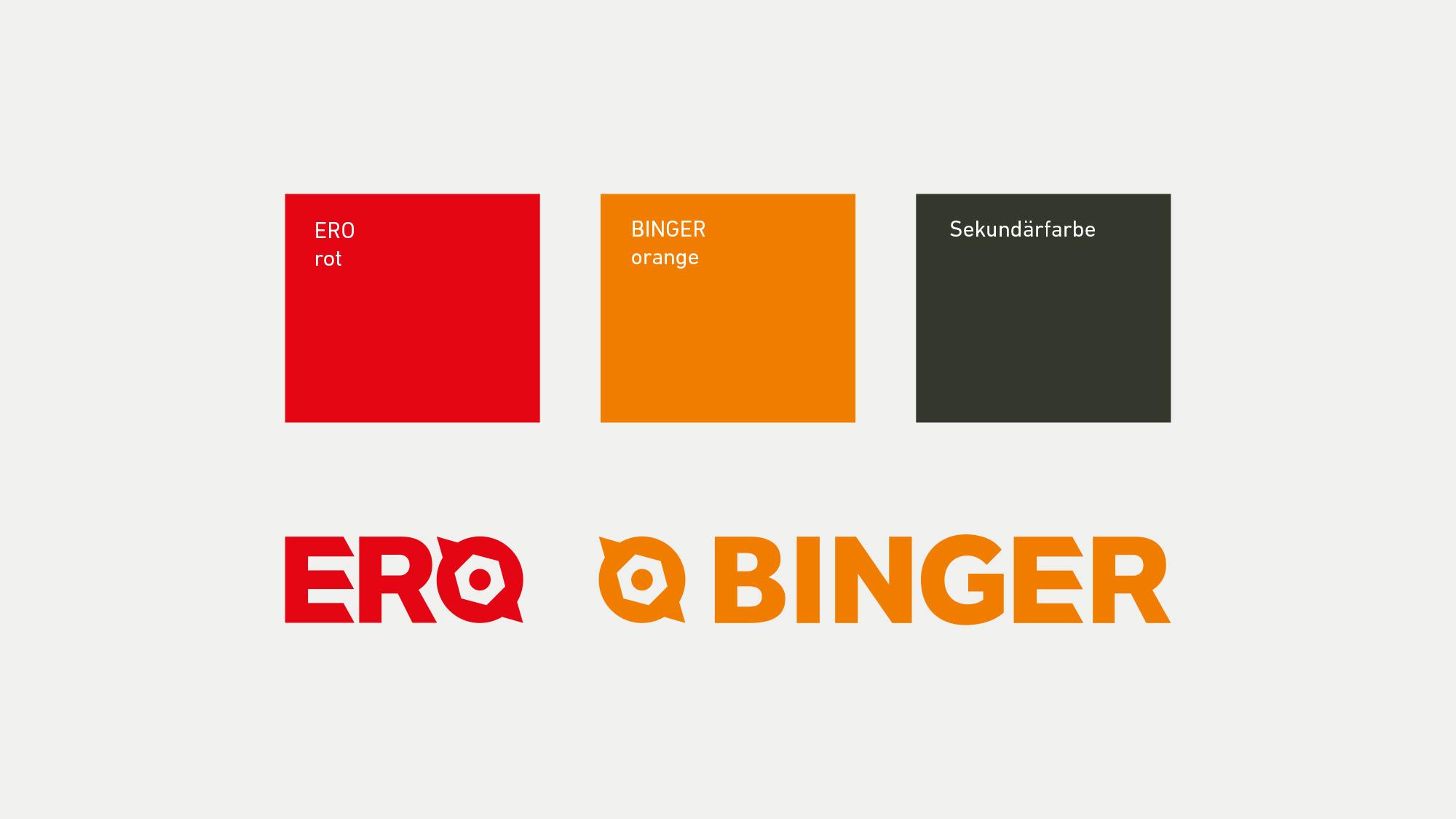 Farbkonzept Ero und Ero Binger