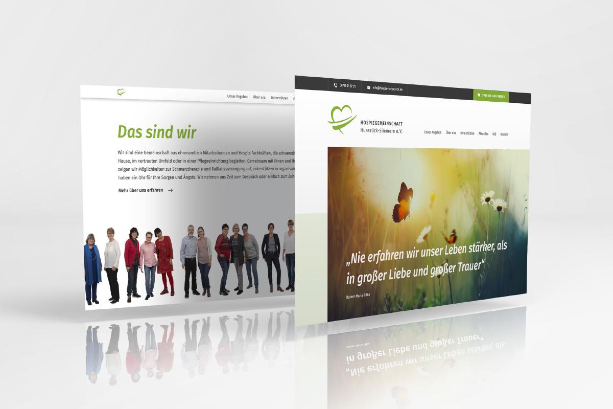 Webpages Hospizgemeinschaft Hunsrück-Simmern